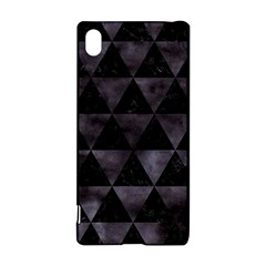 Triangle3 Black Marble & Black Watercolor Sony Xperia Z3+ Hardshell Case