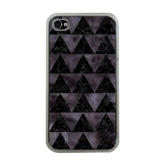 Triangle2 Black Marble & Black Watercolor Apple Iphone 4 Case (clear) by trendistuff