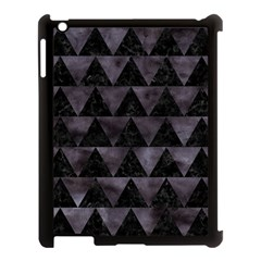 Triangle2 Black Marble & Black Watercolor Apple Ipad 3/4 Case (black) by trendistuff