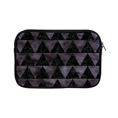 Triangle2 Black Marble & Black Watercolor Apple Ipad Mini Zipper Case by trendistuff