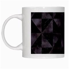 Triangle1 Black Marble & Black Watercolor White Mug by trendistuff