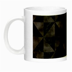 Triangle1 Black Marble & Black Watercolor Night Luminous Mug by trendistuff