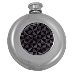 Triangle1 Black Marble & Black Watercolor Hip Flask (5 Oz) by trendistuff