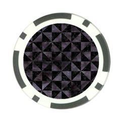 Triangle1 Black Marble & Black Watercolor Poker Chip Card Guard by trendistuff