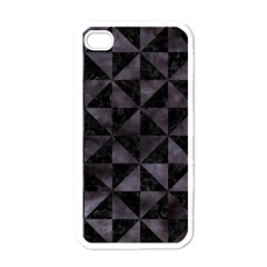 Triangle1 Black Marble & Black Watercolor Apple Iphone 4 Case (white) by trendistuff