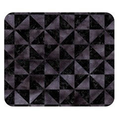Triangle1 Black Marble & Black Watercolor Double Sided Flano Blanket (small) by trendistuff