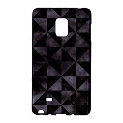 Triangle1 Black Marble & Black Watercolor Samsung Galaxy Note Edge Hardshell Case by trendistuff