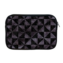 Triangle1 Black Marble & Black Watercolor Apple Macbook Pro 17  Zipper Case by trendistuff
