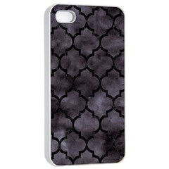 Tile1 Black Marble & Black Watercolor (r) Apple Iphone 4/4s Seamless Case (white) by trendistuff