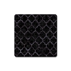 Tile1 Black Marble & Black Watercolor Magnet (square) by trendistuff