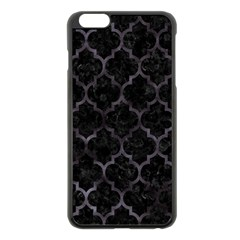 Tile1 Black Marble & Black Watercolor Apple Iphone 6 Plus/6s Plus Black Enamel Case