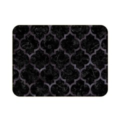 Tile1 Black Marble & Black Watercolor Double Sided Flano Blanket (mini) by trendistuff