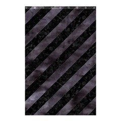 Stripes3 Black Marble & Black Watercolor Shower Curtain 48  X 72  (small) by trendistuff