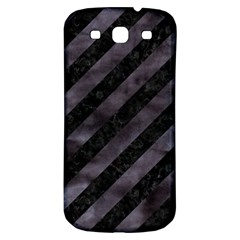 Stripes3 Black Marble & Black Watercolor Samsung Galaxy S3 S Iii Classic Hardshell Back Case by trendistuff