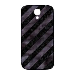 Stripes3 Black Marble & Black Watercolor Samsung Galaxy S4 I9500/i9505  Hardshell Back Case by trendistuff
