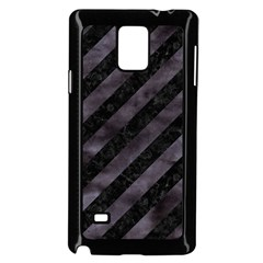 Stripes3 Black Marble & Black Watercolor Samsung Galaxy Note 4 Case (black) by trendistuff