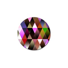 Triangles Abstract Triangle Background Pattern Golf Ball Marker (4 Pack) by Simbadda