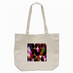 Triangles Abstract Triangle Background Pattern Tote Bag (cream) by Simbadda