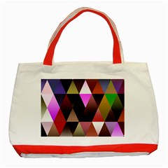 Triangles Abstract Triangle Background Pattern Classic Tote Bag (red) by Simbadda