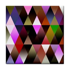 Triangles Abstract Triangle Background Pattern Face Towel by Simbadda