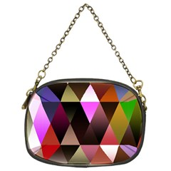 Triangles Abstract Triangle Background Pattern Chain Purses (two Sides)  by Simbadda