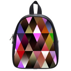 Triangles Abstract Triangle Background Pattern School Bags (small)  by Simbadda
