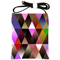 Triangles Abstract Triangle Background Pattern Shoulder Sling Bags by Simbadda
