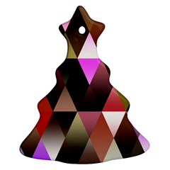 Triangles Abstract Triangle Background Pattern Ornament (christmas Tree)  by Simbadda