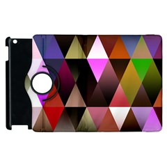 Triangles Abstract Triangle Background Pattern Apple Ipad 2 Flip 360 Case by Simbadda