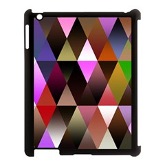 Triangles Abstract Triangle Background Pattern Apple Ipad 3/4 Case (black) by Simbadda