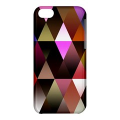 Triangles Abstract Triangle Background Pattern Apple Iphone 5c Hardshell Case by Simbadda