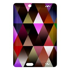 Triangles Abstract Triangle Background Pattern Amazon Kindle Fire Hd (2013) Hardshell Case by Simbadda