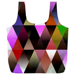 Triangles Abstract Triangle Background Pattern Full Print Recycle Bags (l)  by Simbadda