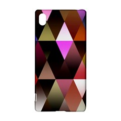 Triangles Abstract Triangle Background Pattern Sony Xperia Z3+ by Simbadda