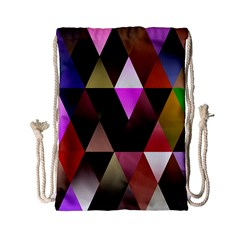 Triangles Abstract Triangle Background Pattern Drawstring Bag (small) by Simbadda
