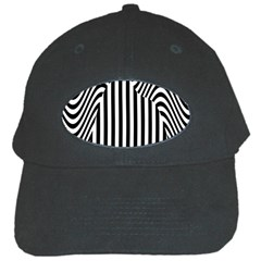 Stripe Abstract Stripped Geometric Background Black Cap by Simbadda