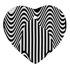 Stripe Abstract Stripped Geometric Background Ornament (heart) by Simbadda