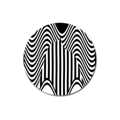 Stripe Abstract Stripped Geometric Background Magnet 3  (round) by Simbadda