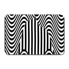 Stripe Abstract Stripped Geometric Background Plate Mats by Simbadda