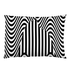 Stripe Abstract Stripped Geometric Background Pillow Case by Simbadda