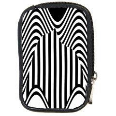Stripe Abstract Stripped Geometric Background Compact Camera Cases by Simbadda