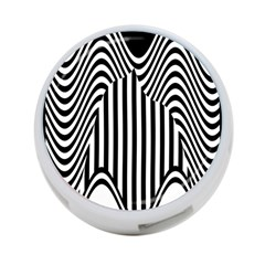 Stripe Abstract Stripped Geometric Background 4 Port Usb Hub (one Side) by Simbadda