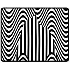 Stripe Abstract Stripped Geometric Background Fleece Blanket (medium)  by Simbadda