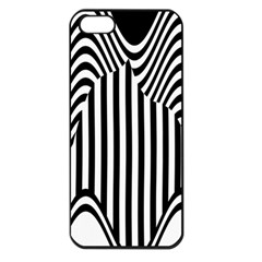 Stripe Abstract Stripped Geometric Background Apple Iphone 5 Seamless Case (black) by Simbadda