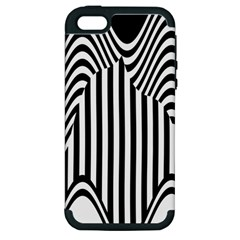 Stripe Abstract Stripped Geometric Background Apple Iphone 5 Hardshell Case (pc+silicone) by Simbadda