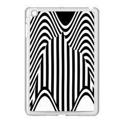 Stripe Abstract Stripped Geometric Background Apple Ipad Mini Case (white) by Simbadda