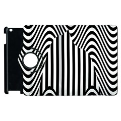 Stripe Abstract Stripped Geometric Background Apple Ipad 2 Flip 360 Case by Simbadda