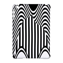 Stripe Abstract Stripped Geometric Background Apple Ipad Mini Hardshell Case (compatible With Smart Cover) by Simbadda