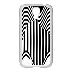 Stripe Abstract Stripped Geometric Background Samsung Galaxy S4 I9500/ I9505 Case (white) by Simbadda