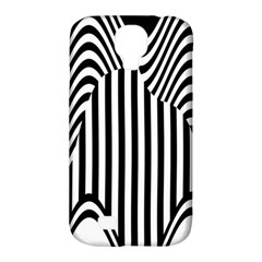 Stripe Abstract Stripped Geometric Background Samsung Galaxy S4 Classic Hardshell Case (pc+silicone) by Simbadda